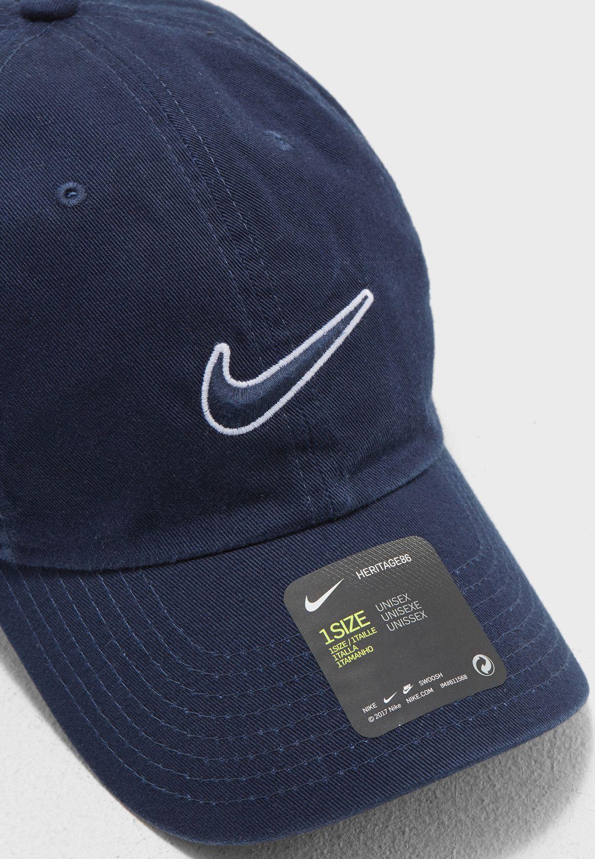 a75063ac5a5 Shop Nike navy H86 Essential Swoosh Cap 943091-451 for Men in UAE ...