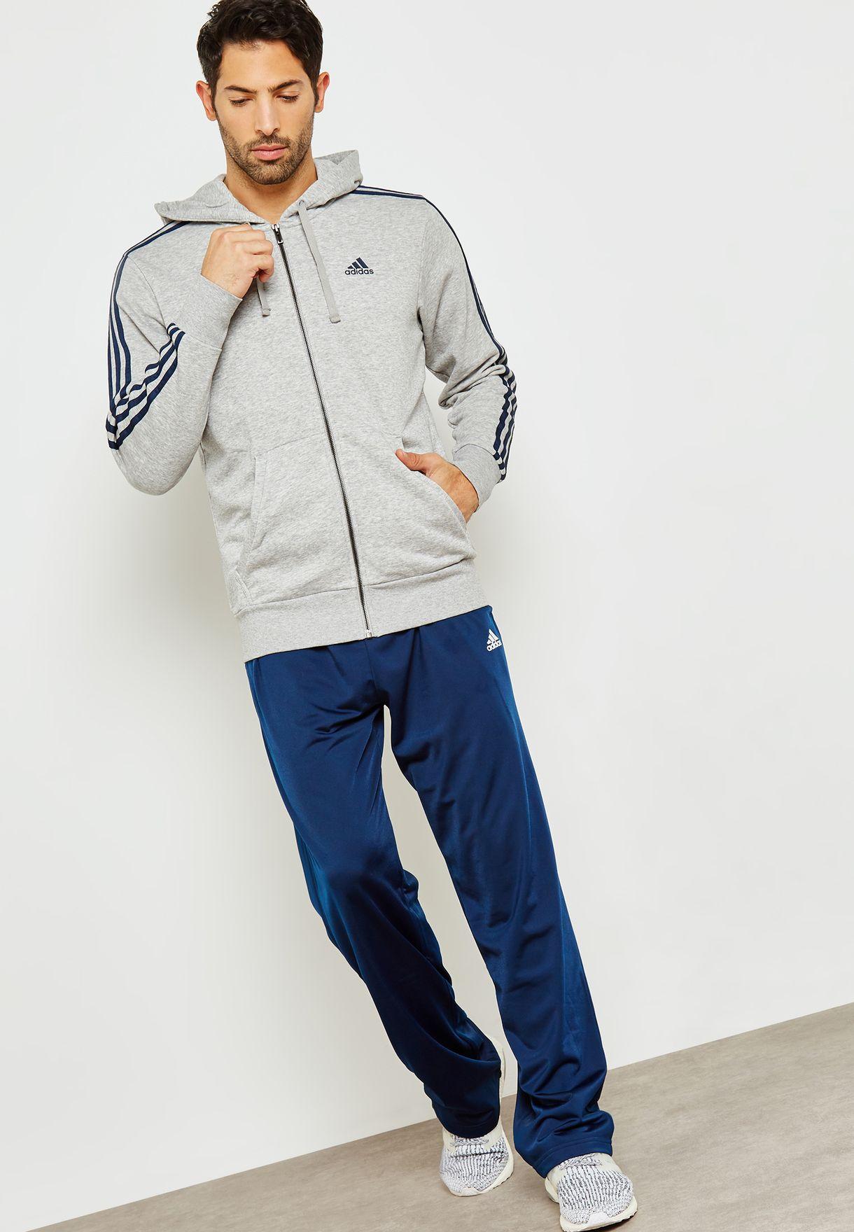 Essential 3 Stripe Hoodie