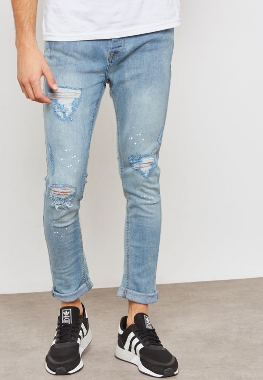 Ripped Skinny Fit Jeans
