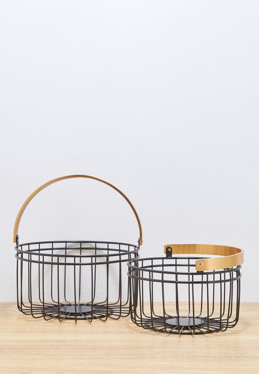 Small Round Accents Basket Set