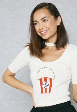 Popcor Print T-Shirt