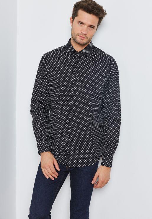 Star AOP Slim Fit Shirt