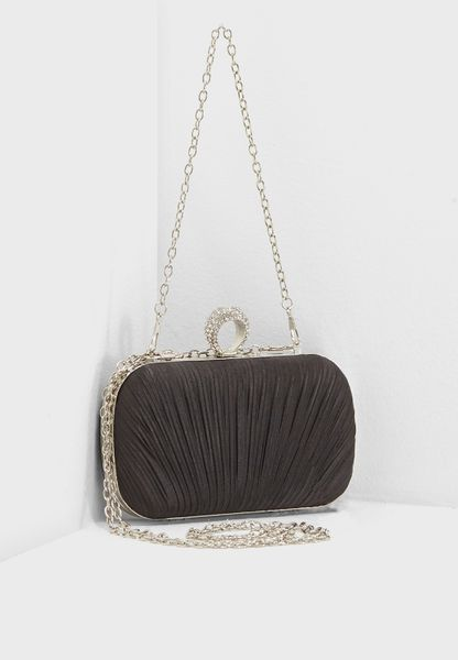 Satin Ruched Clutch