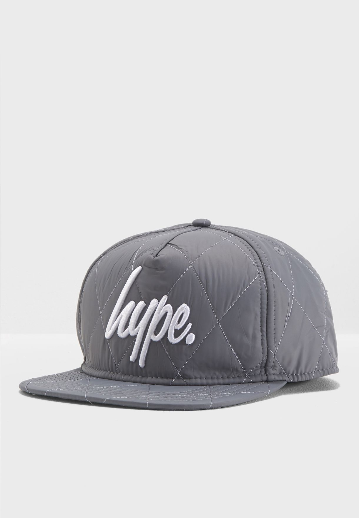 Shop Hype grey Reflective Quilted Snap Back SS18-441 for Men in ... a083f4c888