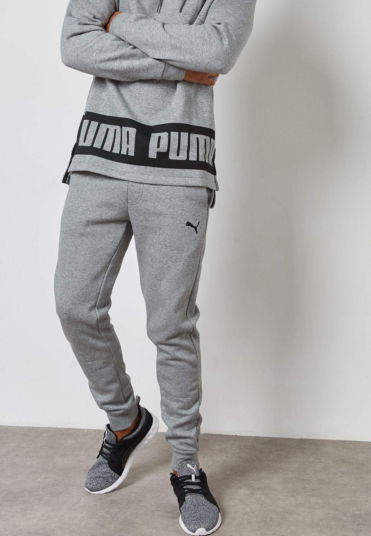 d2e0eef35430c Shop PUMA grey Essential Slim Sweatpants 83826603 for Men in UAE ...