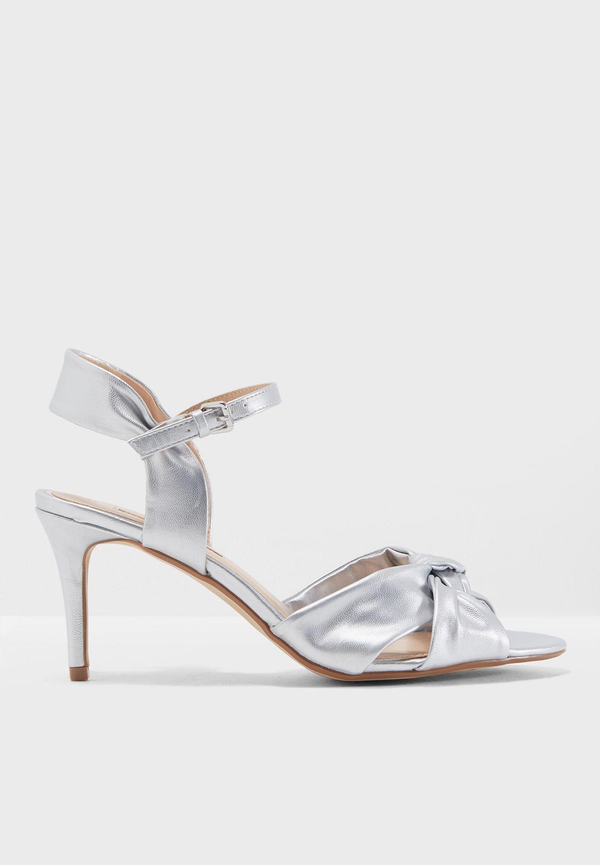 8f6ea86271c6b Shop Dorothy Perkins silver Breeze Heel Sandal 19129260 for Women in ...