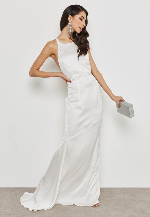 Back Ring Detail Maxi Dress