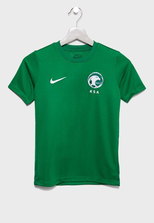 تيشيرت مزين بشعار الفريق القومي السعودي لكرة القدم