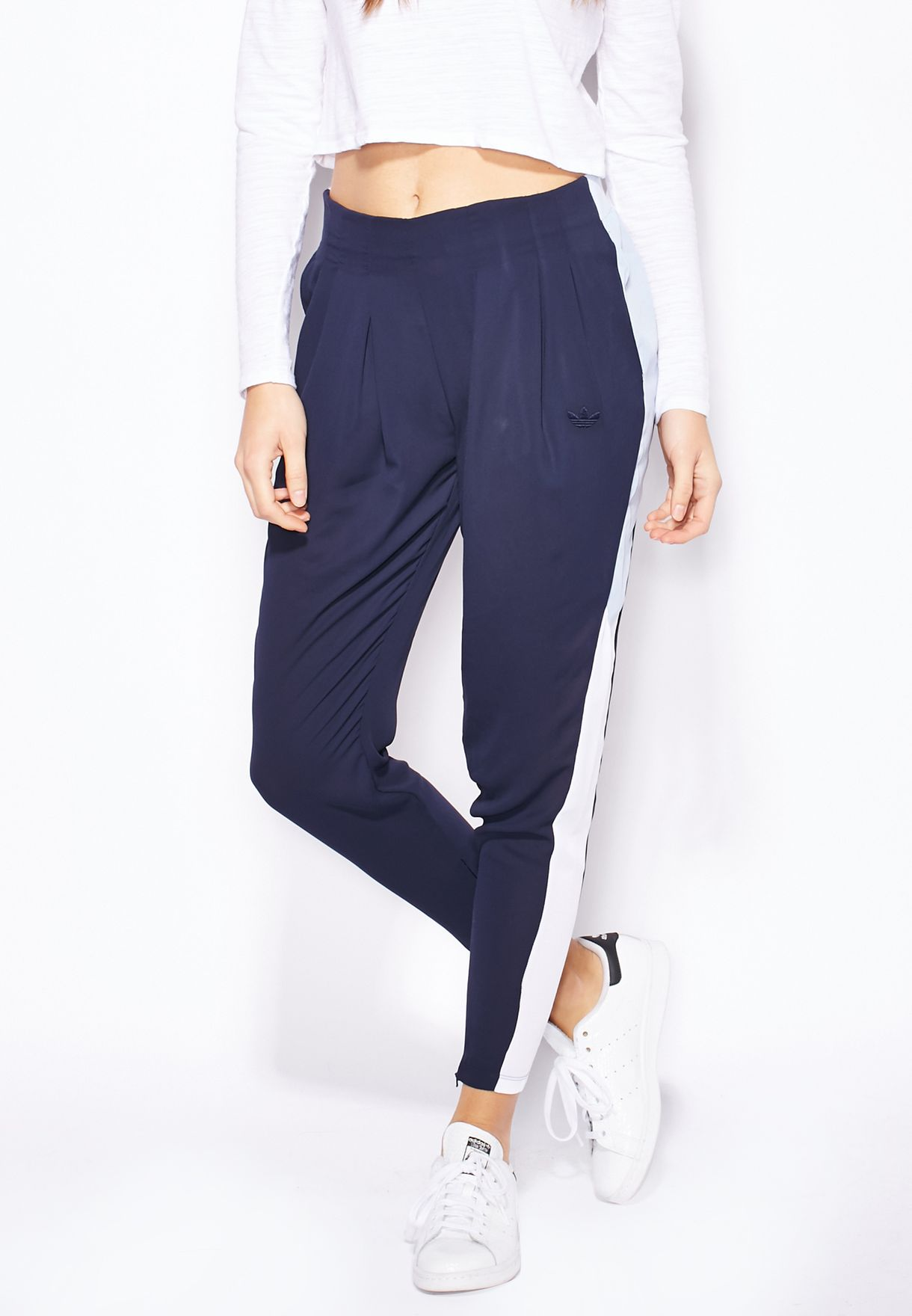 97f366bc230a Shop adidas Originals blue Helsinki Track Pants AB2771 for Women in ...