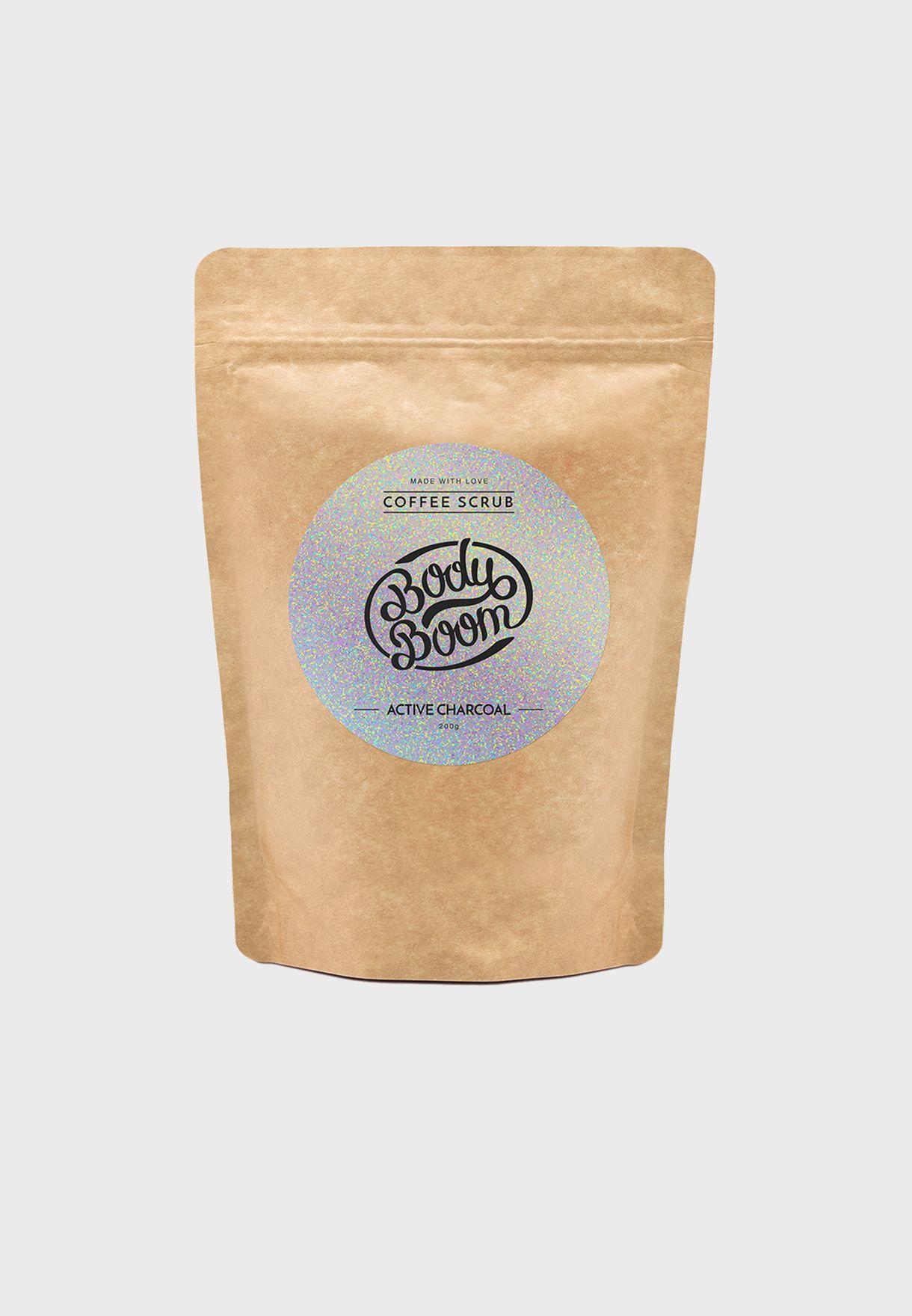 مقشر القهوة للجسم - فحم نشط