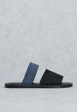 Double Strap Elastic Sandal