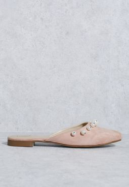 Pearl Slipon Mule