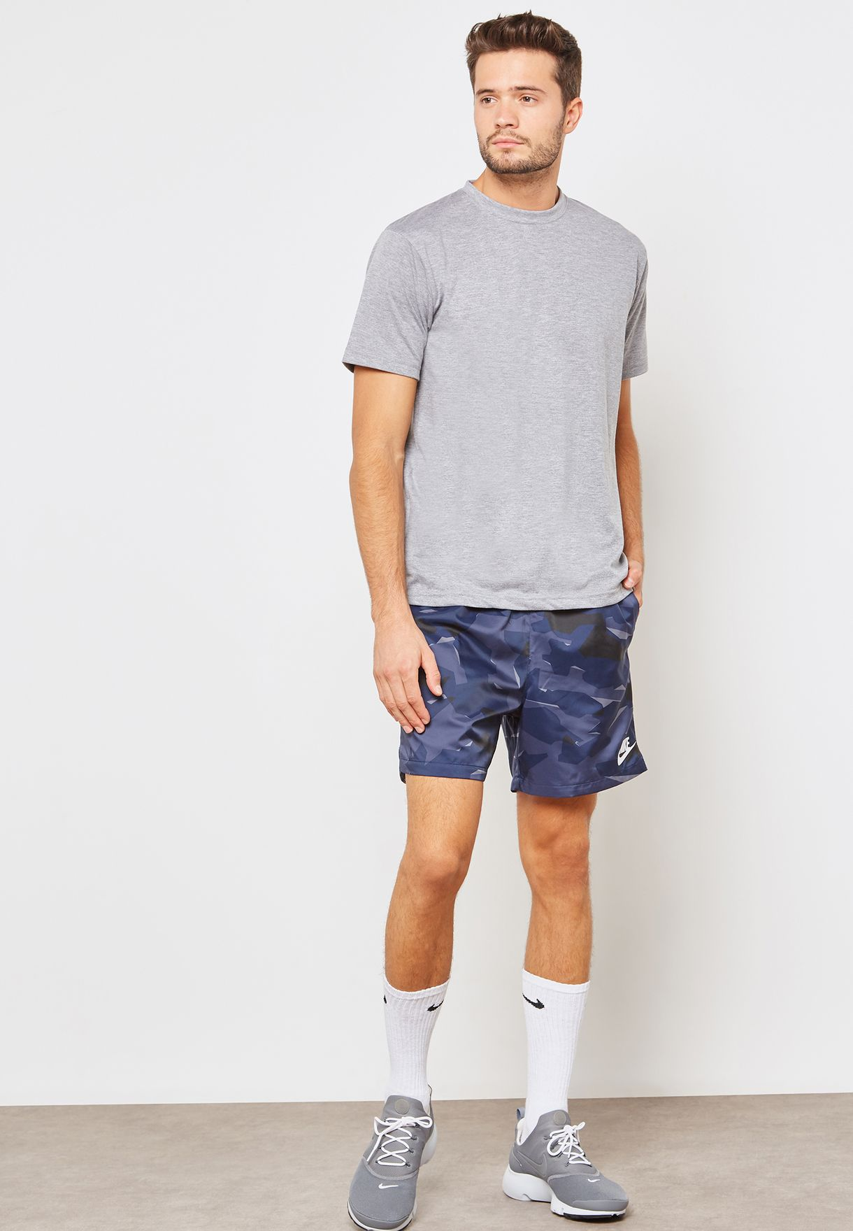 new style 095a9 824e3 Shop Nike prints Camo Flow Woven Shorts AQ0600-498 for Men in UAE -  NI727AT00JRB