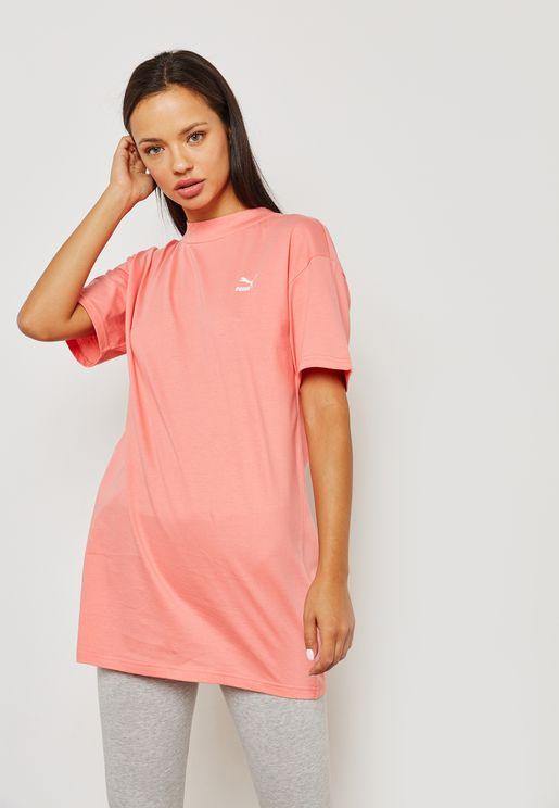 Bow Elongated T-Shirt