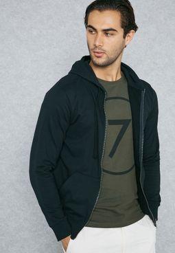 Zip Through Hoodie & Shorts  Set