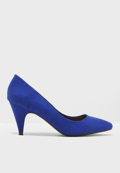 Cobalt Diana Almond Toe Court