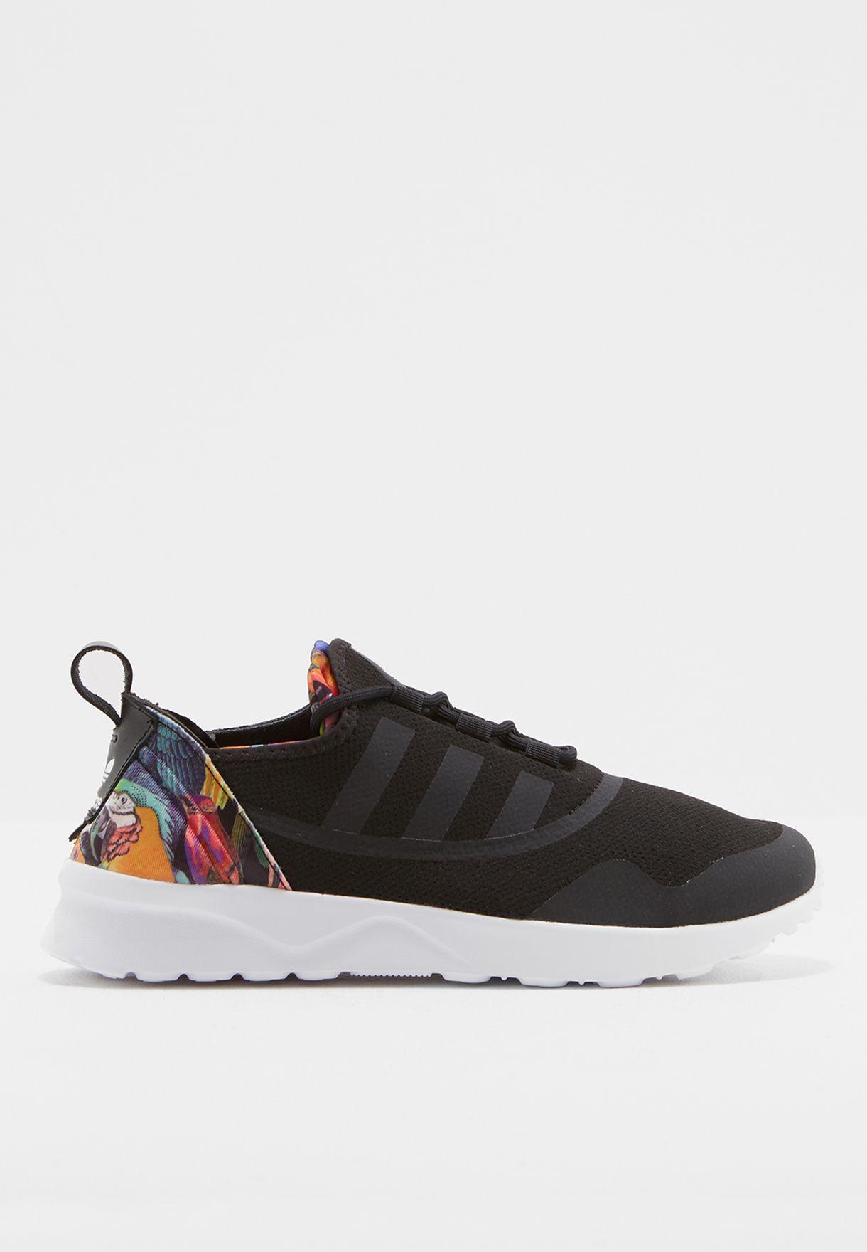 27246172d Shop adidas Originals black ZX Flux ADV Virtue CG4094 for Women in ...
