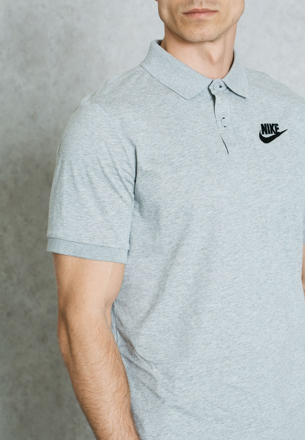1b65883880 Shop Nike grey Matchup Jersey Polo 832865-063 for Men in Saudi ...
