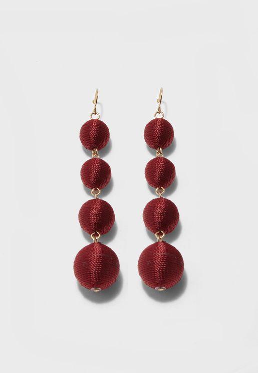 Bauble Fabric Earrings
