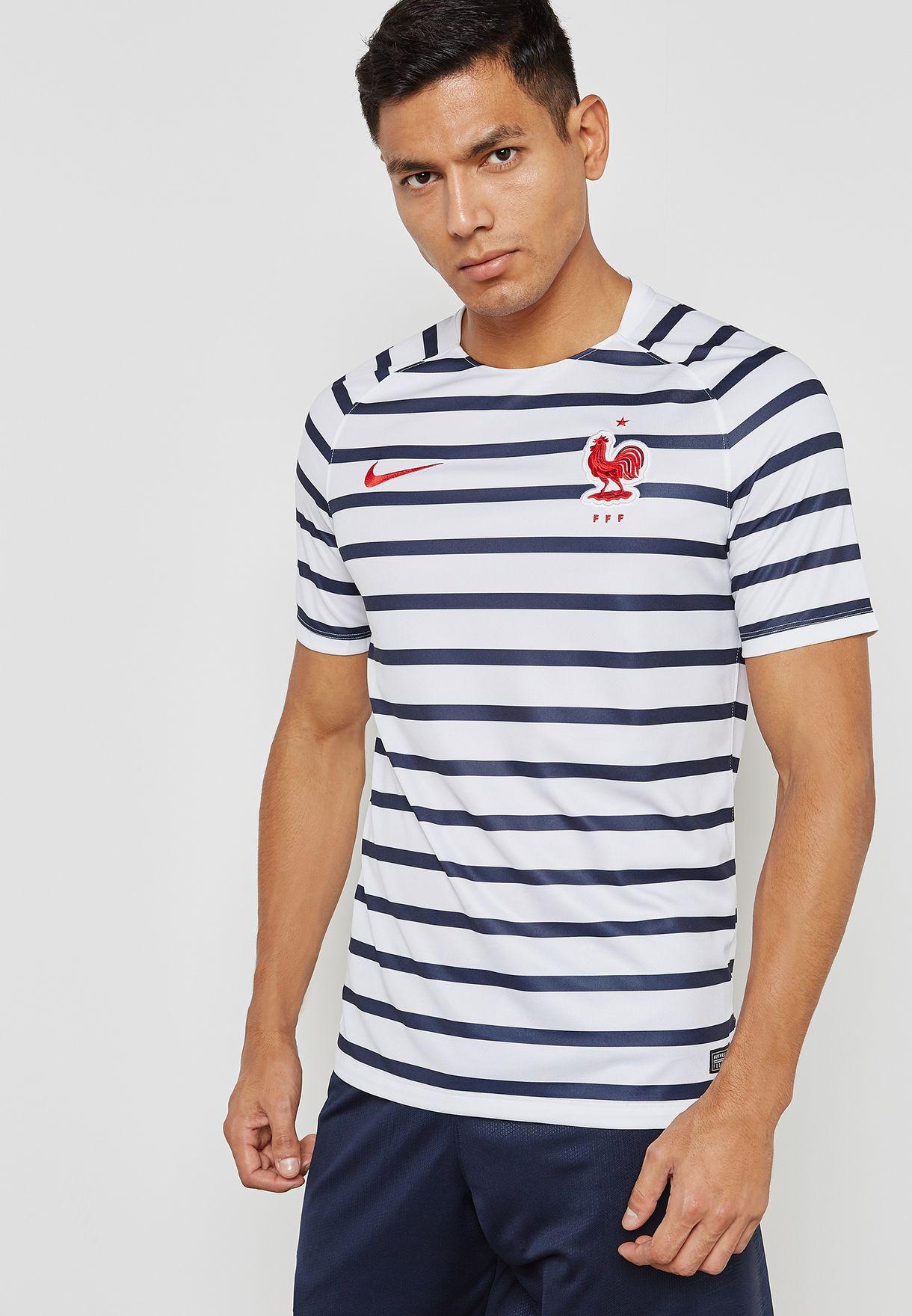 Shop Nike multicolor France Dri-FIT Squad T-Shirt 893358-100 for Men ... 28a818a26