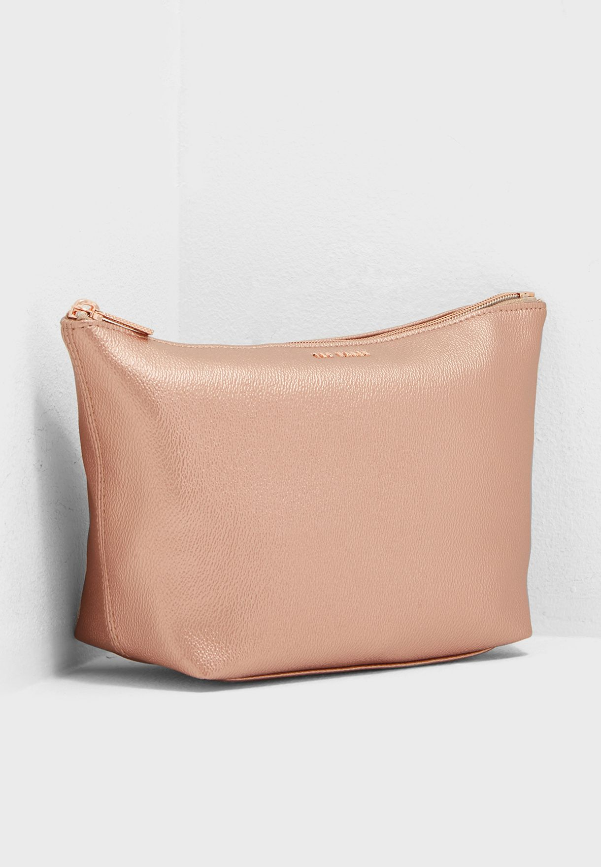 b6ccf93abb Shop Ted baker gold Grainy Wash Bag 141098 for Women in UAE ...