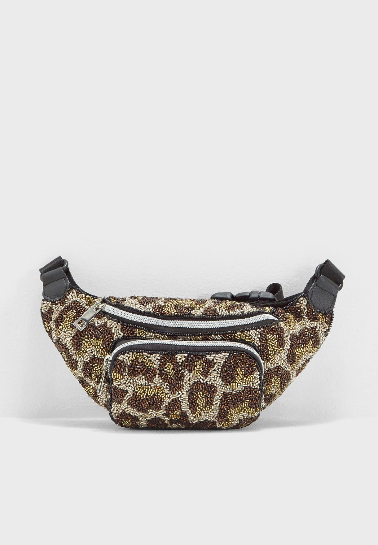 d20311d0aeb6 Shop Topshop multicolor Leopard Beaded Bumbag 24I39NMUL for Women in ...