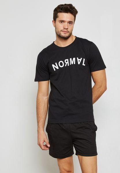 Normal Printed Shorts and T-Shirt Set