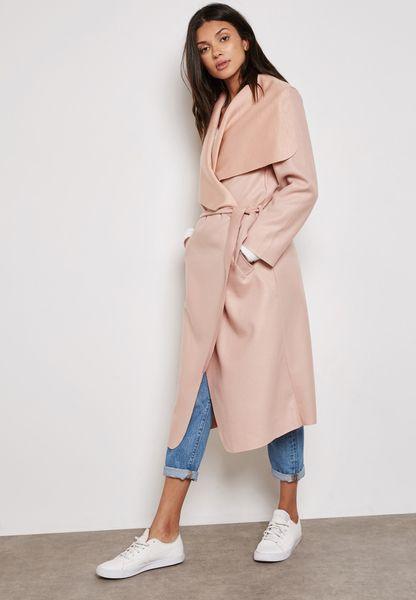 معطف طويل بطبقة علوية