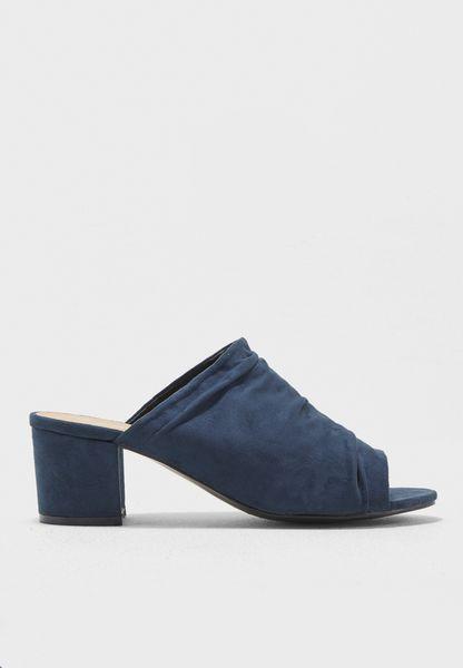 Classic Block Heel Mules