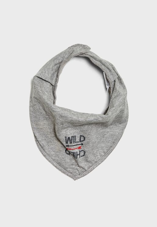 Little Printed Scarf Bib