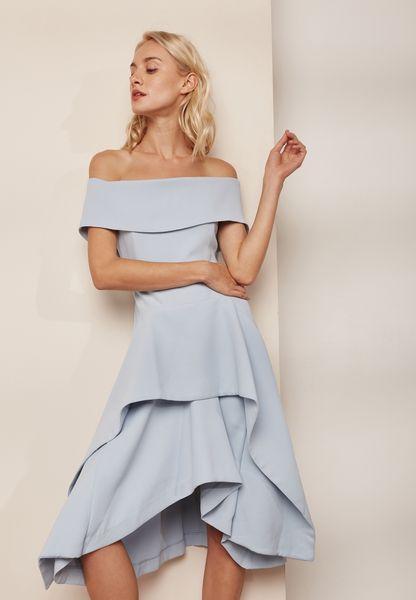 High Low Bardot Dress