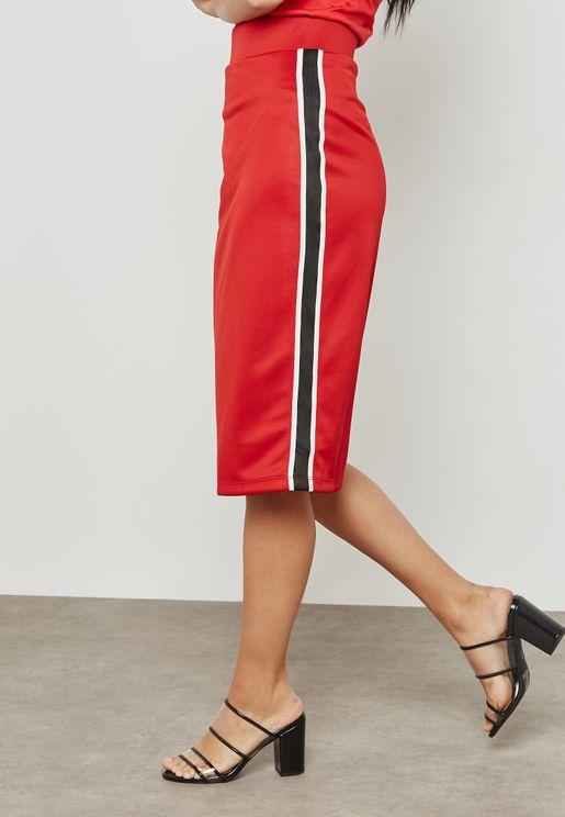 Side Striped Skirt