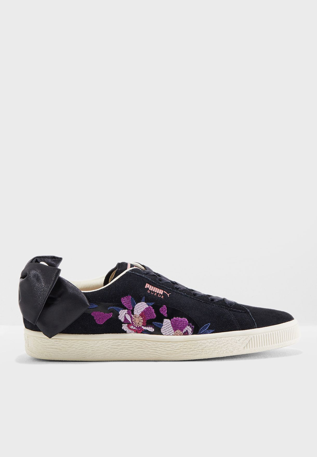 Buy Puma Black Suede Bow Flowery for