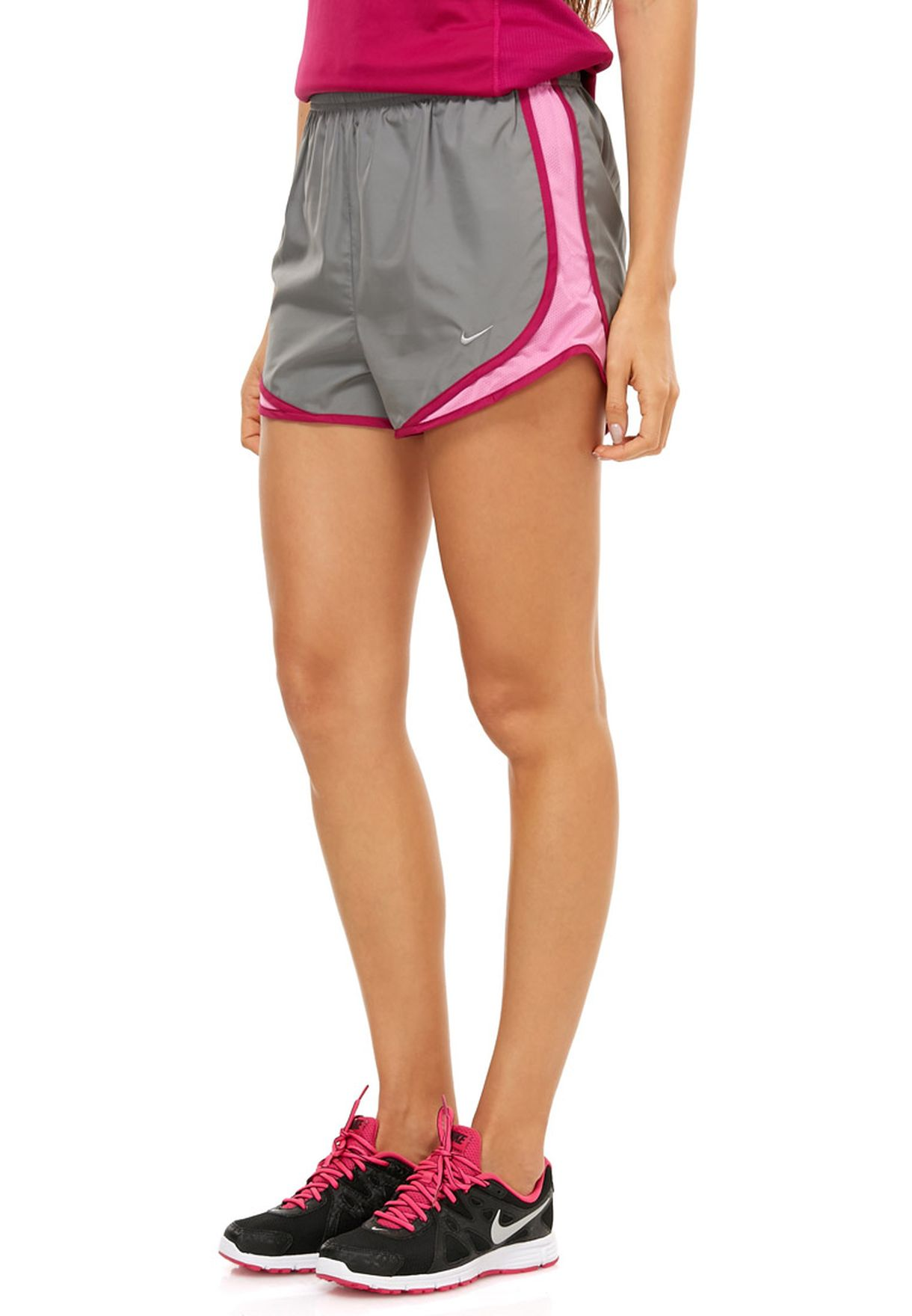 Buy Nike grey Tempo Short for Women in