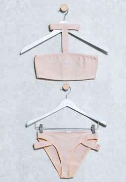 Choker Neck Bandeau Bikini Set