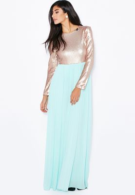 Club L Pleated Maxi Dress