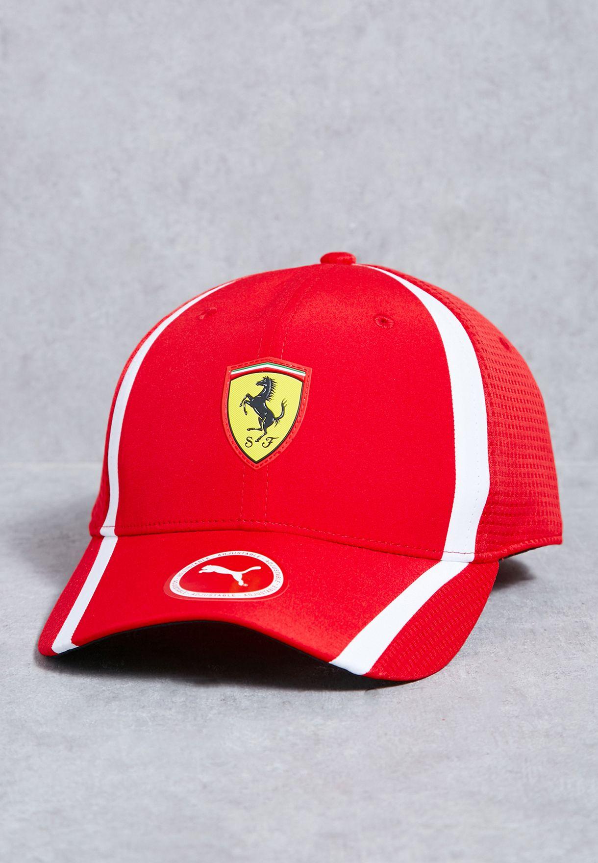 1074a0b5 Shop PUMA red Ferrari Fanwear Redline Cap 02120201 for Men in UAE ...