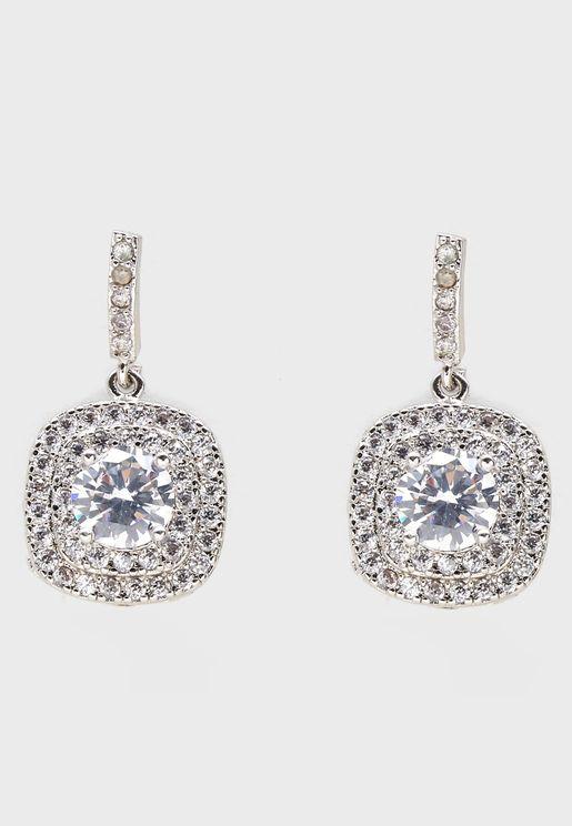Sparkle Cluster Drop Earrings