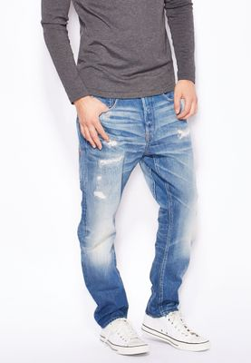 G-Star Raw Scatter Skinny Fit Mid Wash Jeans