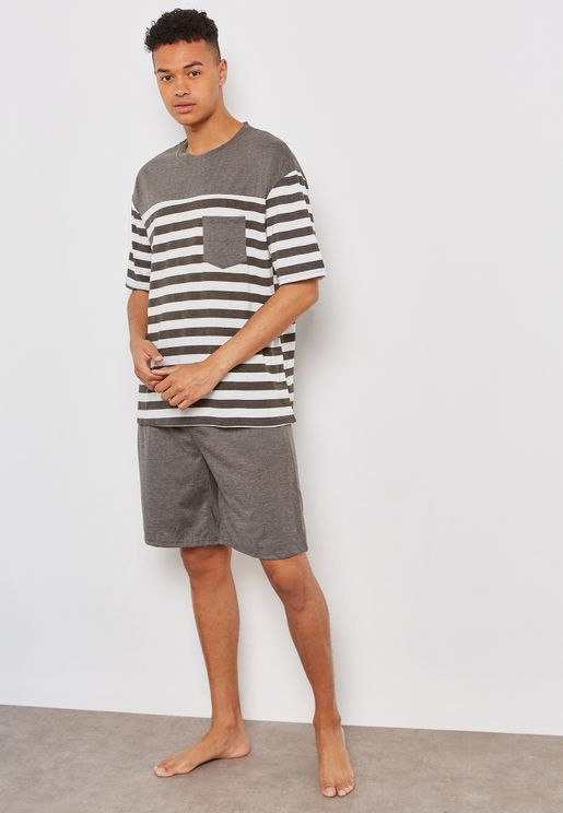 Stripe Nightwear Set