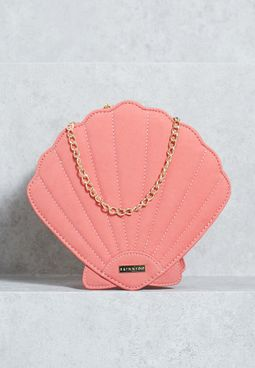 Coral Shell Crossbody