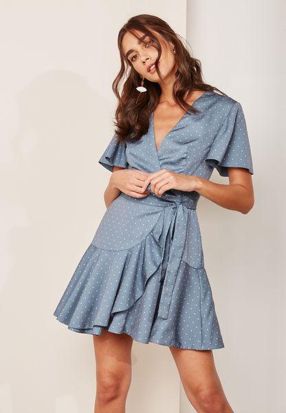 Wide Sleeve Polka Dot Dress