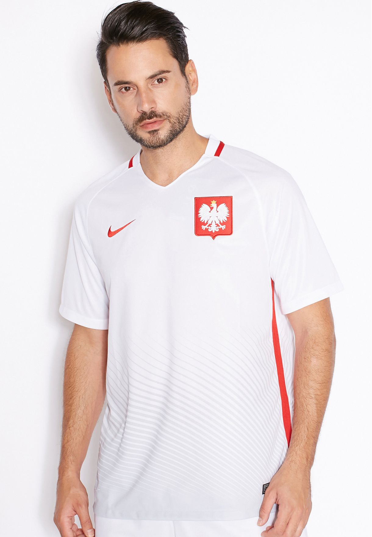 83f1bc264 Shop Nike white Poland Home Stadium Jersey 724633-100 for Men in ...