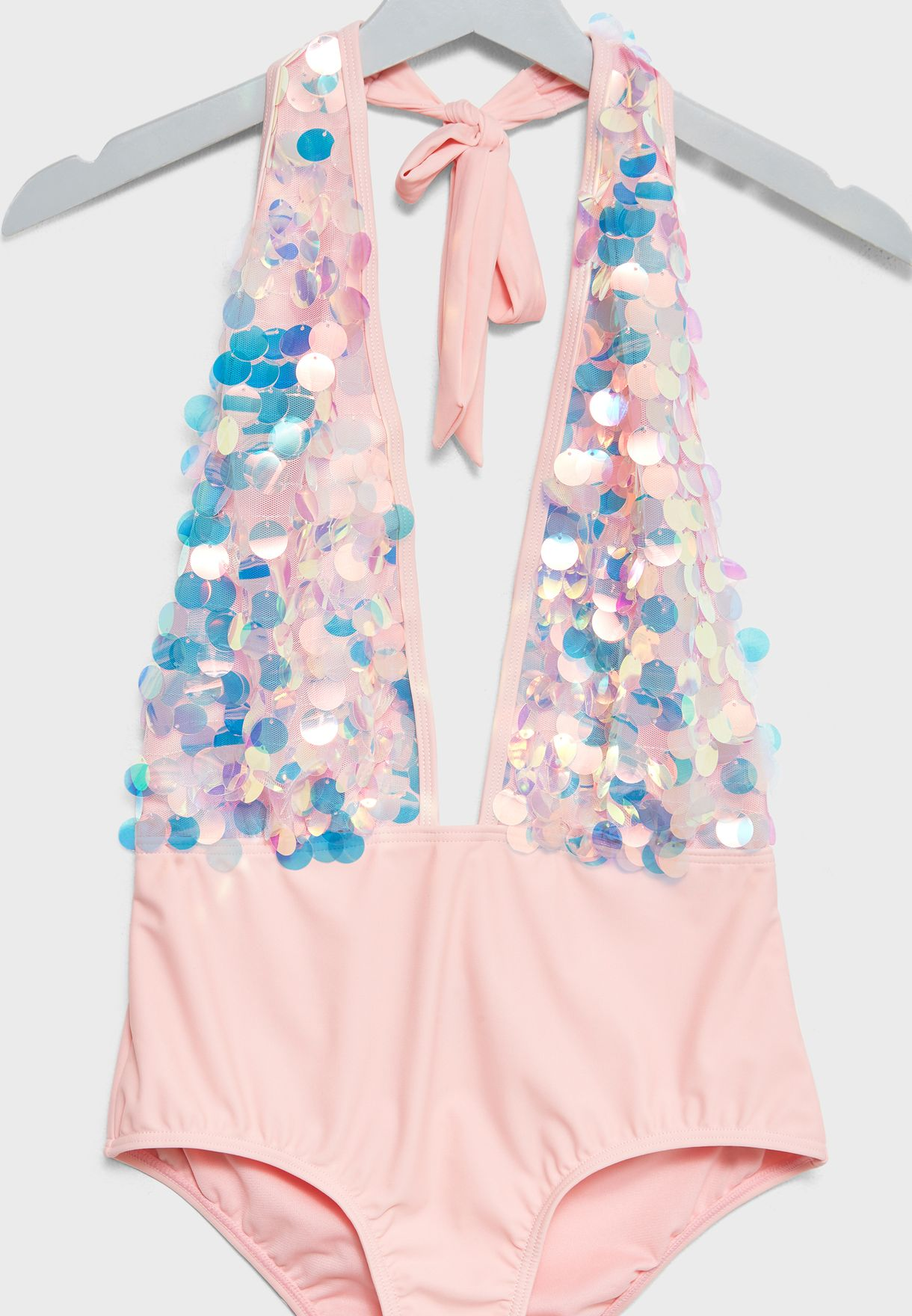 Holographic Plunge Swimsuit