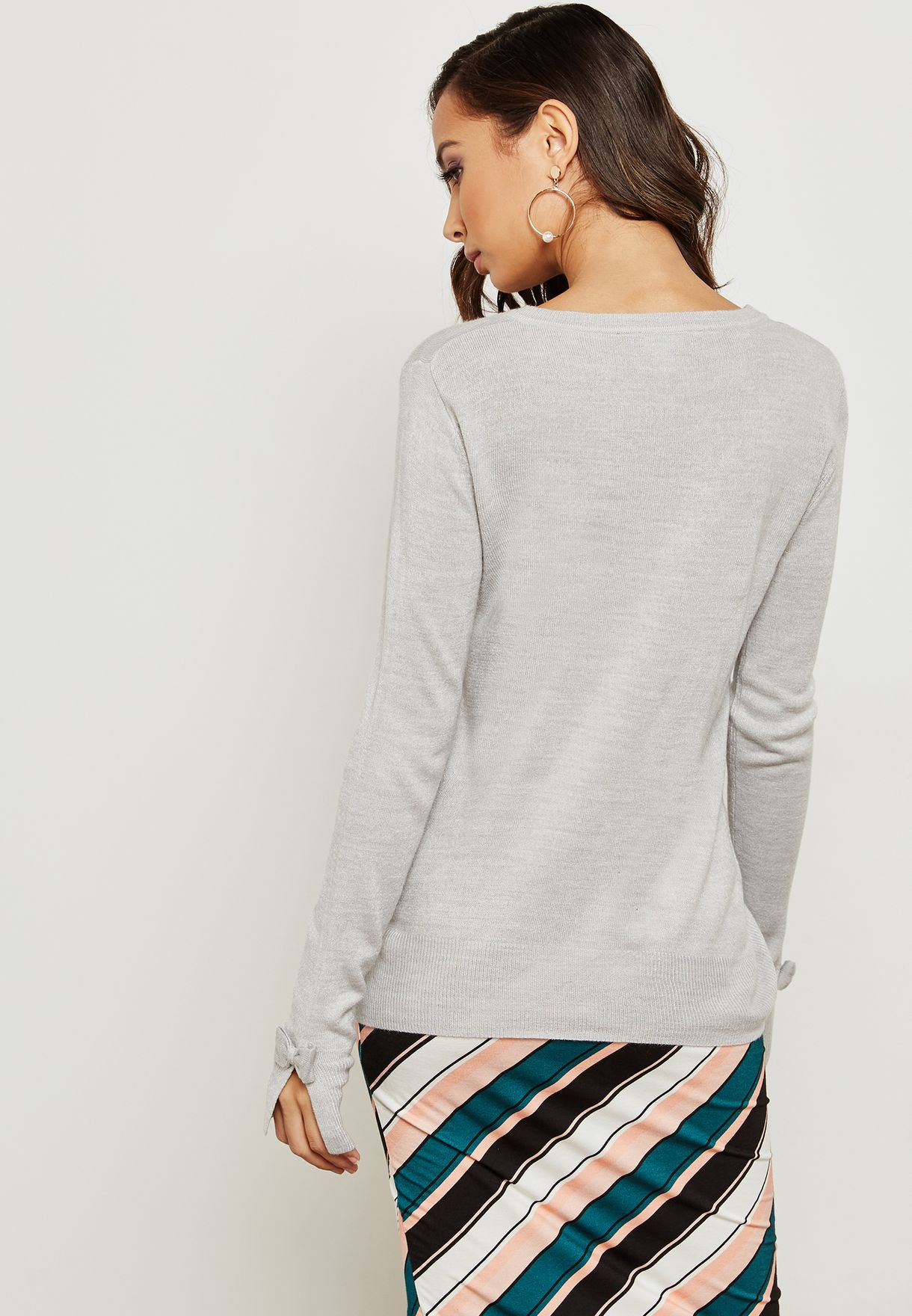 Sleeve Bow Detail Sweater