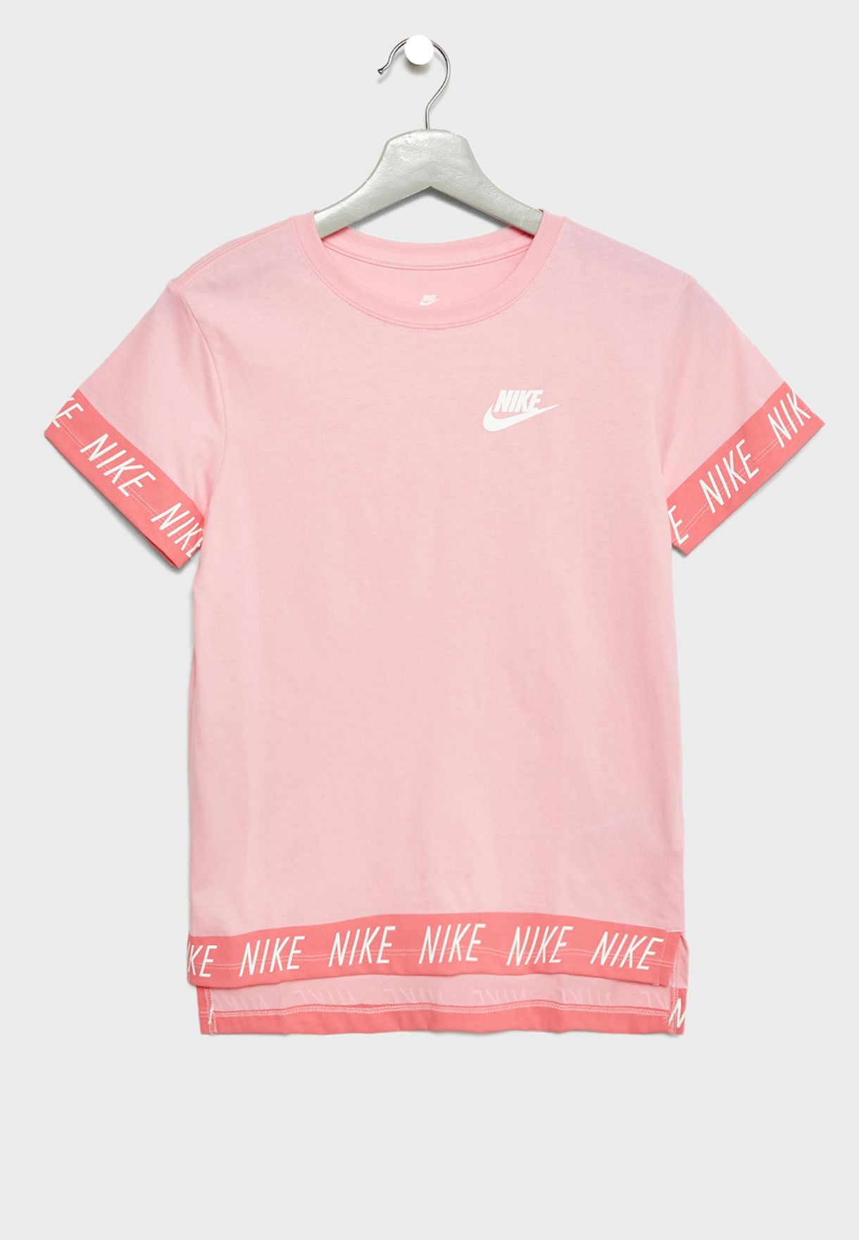 e0015f03 Shop Nike pink Youth Hilo T-Shirt 923632-654 for Kids in Saudi ...