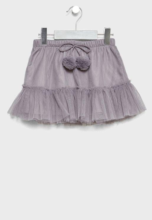 Little Mesh Detail Skirt