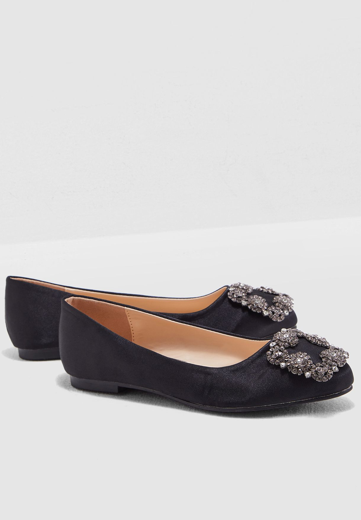 f2ace30c1 Shop Coco black Selena Embellished Ballerinas WT97302 for Women in ...
