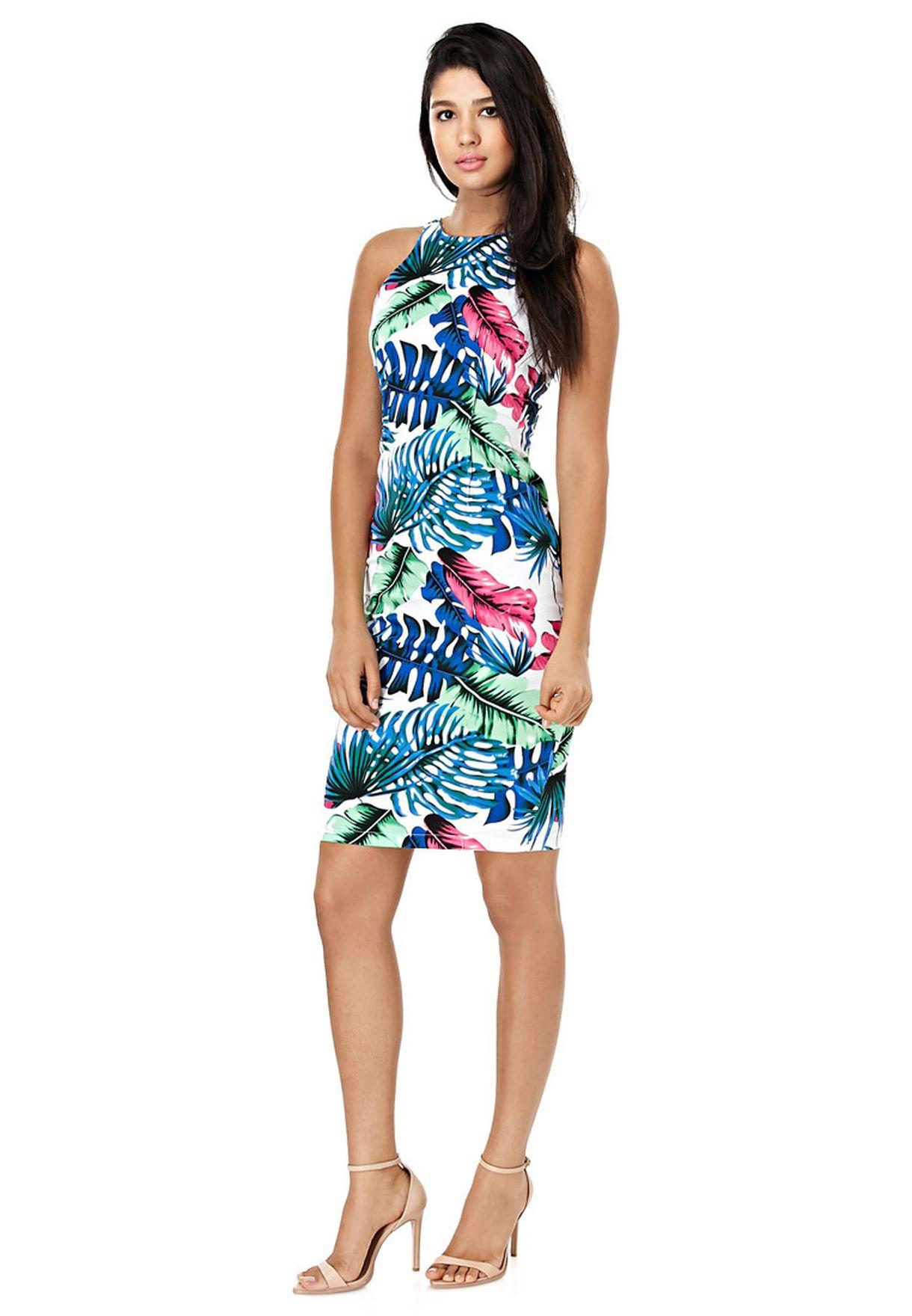 c3393ccdaf207 Shop Ax paris multicolor Floral Midi Dress for Women in Oman ...