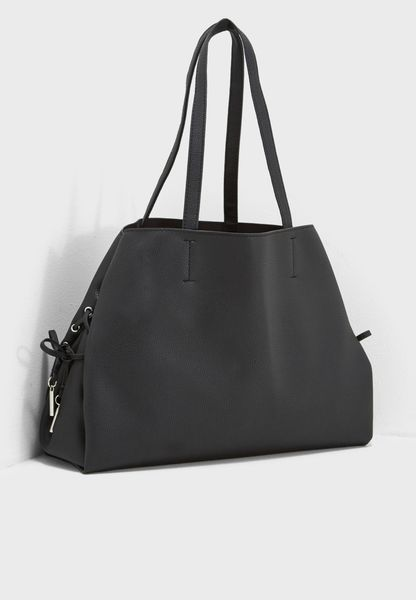 Lace Up Detail Tote